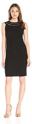 Lark & Ro Women's Sleeveless Sheath Dress