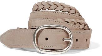Rag & Bone Braided Nubuck Belt - Beige