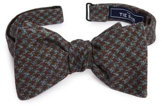 The Tie Bar Woolf Houndstooth Wool Bow Tie
