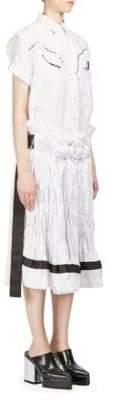 Sacai Short-Sleeve Twill Dress