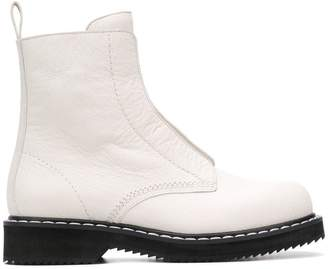 Jil Sander Navy side zip booties