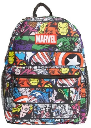 Marvel Boy's Allover Print Backpack - Black