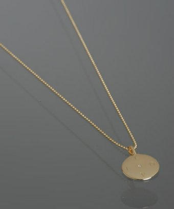 Emma & Me Too gold 'Love' diamond mini pendant necklace