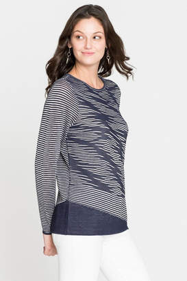 Nic+Zoe Nic + Zoe Striped Knit Tunic