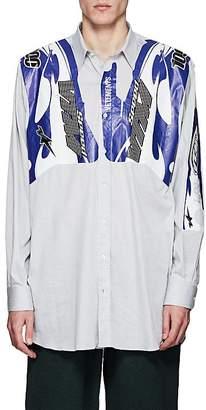 Vetements Men's Motocross-Graphic Cotton-Blend Oversized Shirt