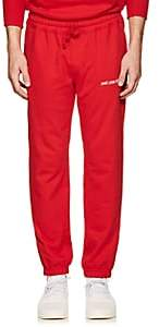 Leon Aime Dore Men's Cotton French Terry Jogger Pants - Red