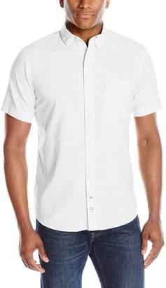 Izod Men's Short Sleeve Solid Dockside Chambray Shirt
