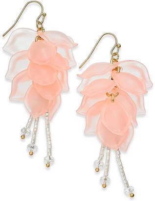 INC International Concepts I.N.C. Gold-Tone Petal & Bead Drop Earrings, Created for Macy's