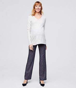 LOFT Maternity Trousers in Button Pocket