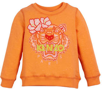Kenzo Floral Tiger Embroidered Sweatshirt, Size 2-4