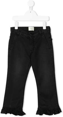 Fendi frill cuff jeans