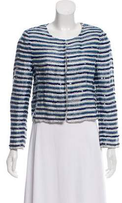 Alice + Olivia Striped Sequined Jacket