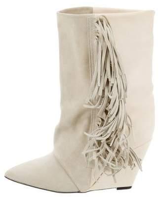 Isabel Marant Mony Fringe Wedge Boots