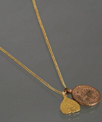Gorjana gold 'Voyage' double charm layered necklace