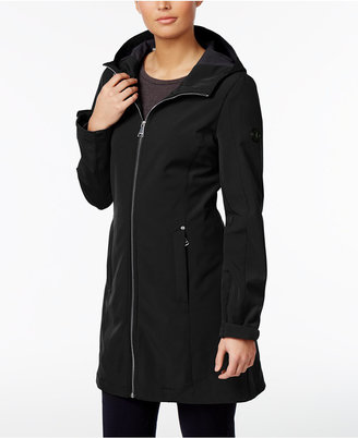 Calvin Klein Hooded Water-Resistant Lightweight Raincoat $150 thestylecure.com