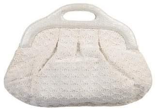 Nancy Gonzalez Crocheted Handle Bag