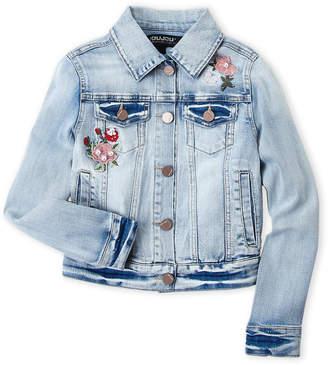 Joujou Jou Jou (Girls 7-16) Floral Embroidered Denim Jacket