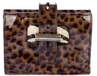 Jimmy Choo Leopard Patent Leather Wallet