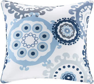 "Jla Home Madison Park Laguna 20"" x 20"" Printed Medallion 3M Scotchgard Outdoor Square Pillow"