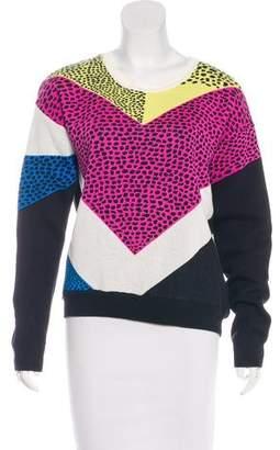 Tibi Abstract Pattern Knit Sweater