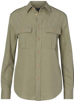 Polo Ralph Lauren Cotton-Linen Safari Shirt $125 thestylecure.com