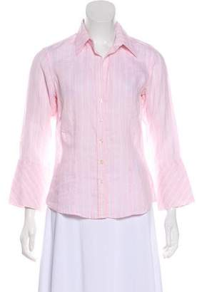 Thomas Pink Striped Linen Top