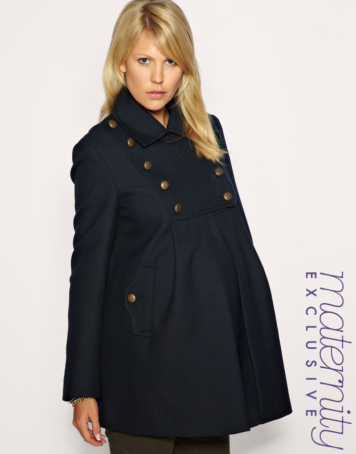 French Connection Maternity Military Bib Coat Exclusive to ASOS