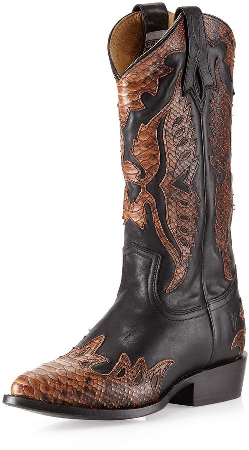 Frye Billy Fire Bird Boots, Black