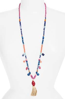 Nakamol Design Beaded Tassel Necklace