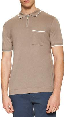 Topman Zip Polo Shirt