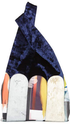 Hayward Velvet Patchwork Shopper Tote Bag