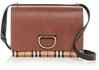 Burberry Medium Vintage Check & Leather D-Ring Bag