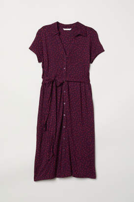 H&M MAMA Jersey Dress - Purple