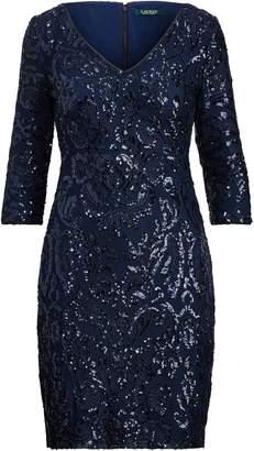 Lauren Ralph Lauren Ralph Lauren Metallic Patterned Dress