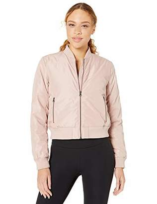 Core 10 Amazon Brand Women's Insulated Cropped Puffer 'It's the Bomb' Bomber Jacket