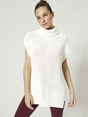 3d Knit Long Top With Poncho Shape