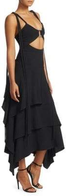 Proenza Schouler Cut-Out Tiered A-Line Camisole Dress
