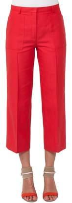 Akris Colette Cotton & Silk Crop Pants