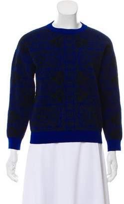 Alexander McQueen Wool Long Sleeve Printed Sweater