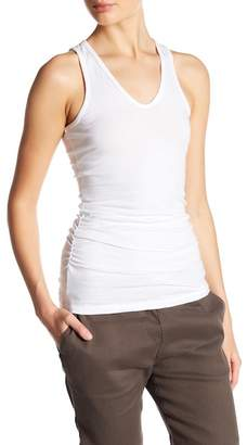 James Perse Skinny Ruched Tank