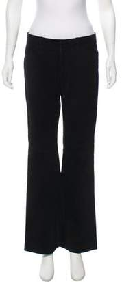 Theory Leather Mid-Rise Pants