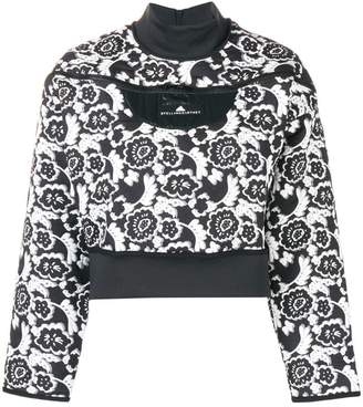 adidas by Stella McCartney flower print logo sweatshirt