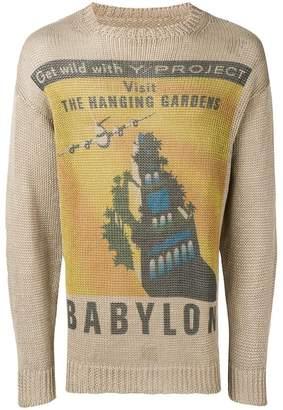 Y/Project Y / Project Postcard knit sweater