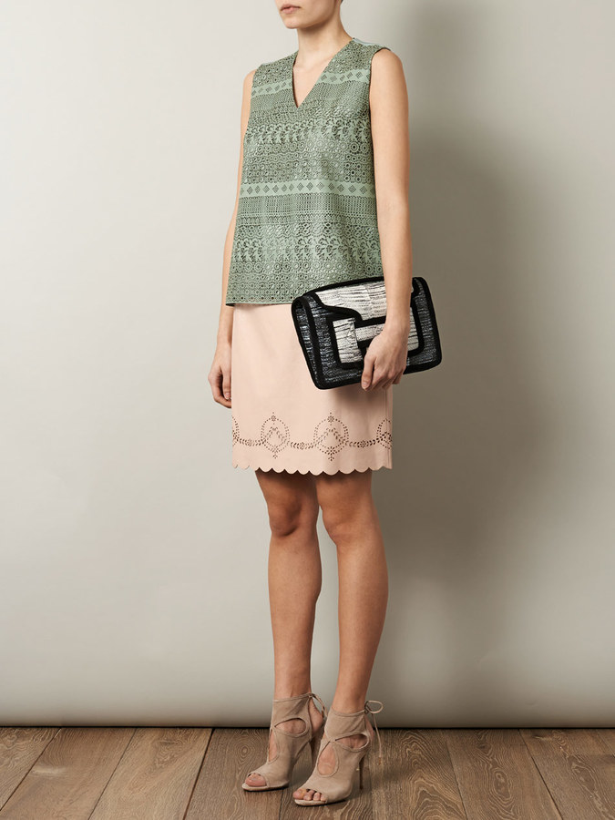 Raoul Lacey laser cut leather top