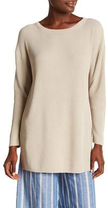 Lafayette 148 New York Ribbed Long Sleeve Linen Blend Tunic