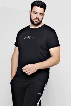 boohoo Big And Tall Longline MAN Signature T-Shirt