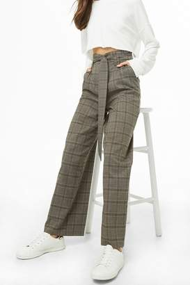 Forever 21 Wide-Leg Plaid Pants