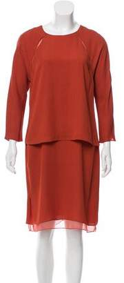 Reed Krakoff Layered Long Sleeve Dress