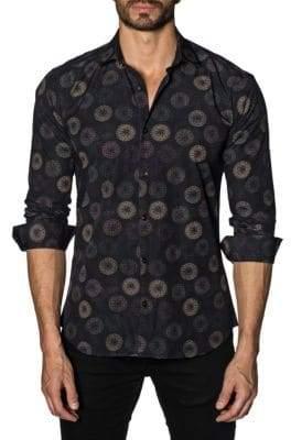 Jared Lang Fireworks Cotton Button-Down Shirt
