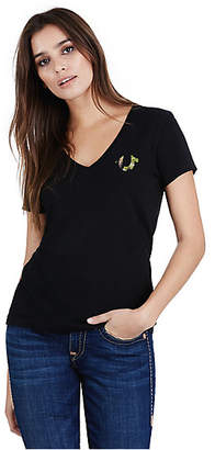 True Religion Camo True Womens V Neck Tee